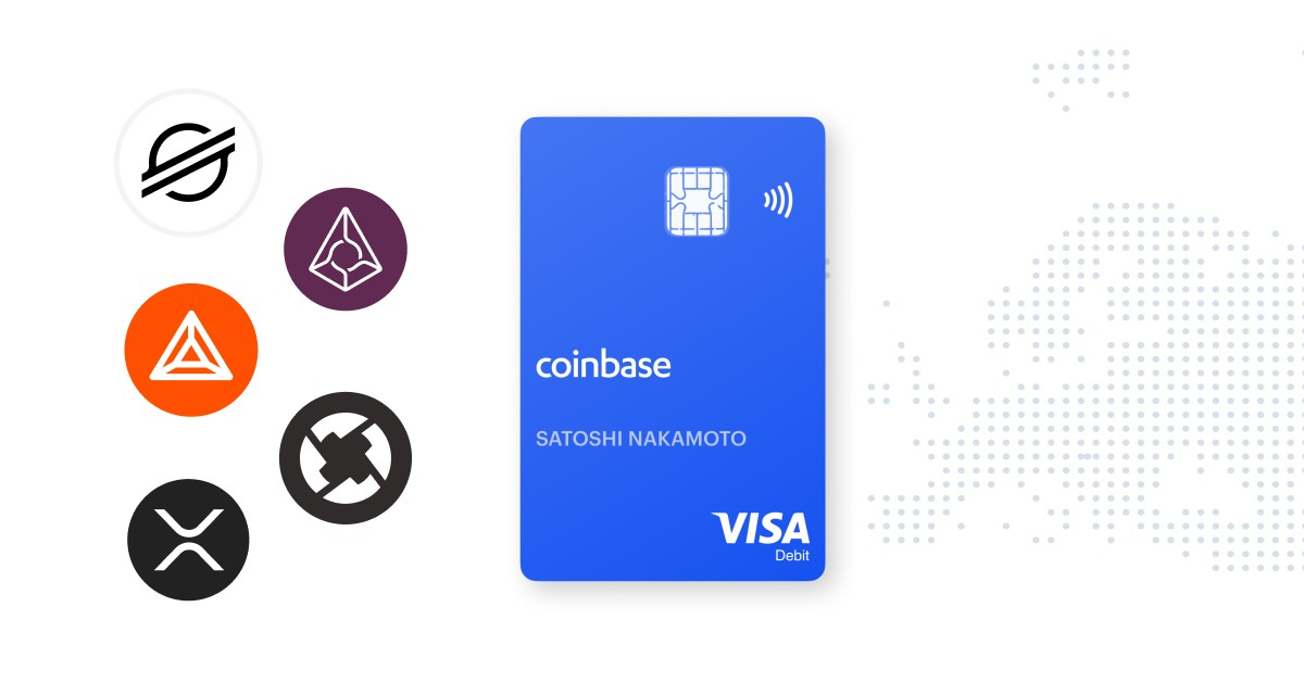 Coinbase Card adds five more cryptocurrencies