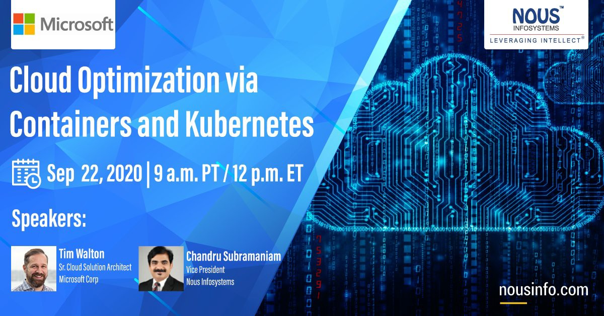 Webinar: Cloud Optimization via Containers and Kubernetes | by Nous Infosystems | Medium