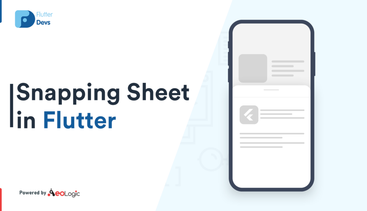 Snapping Sheet In Flutter