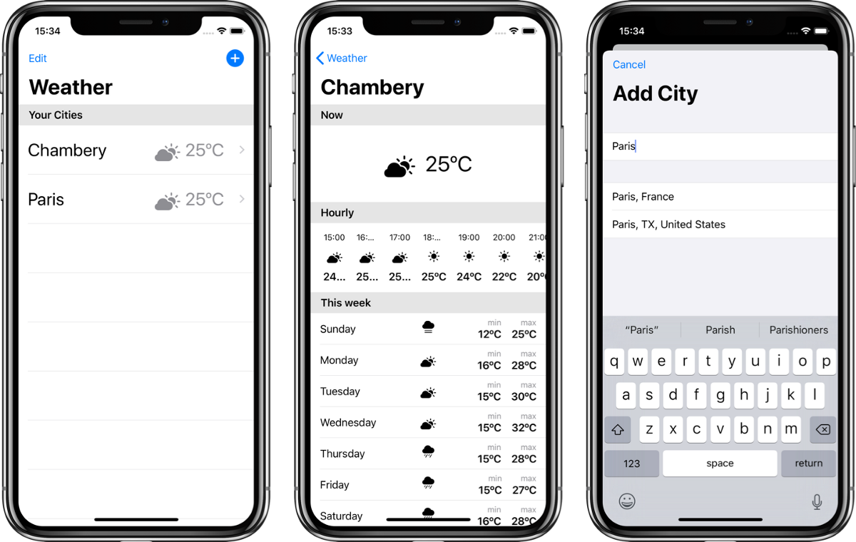 Building a weather app with SwiftUI