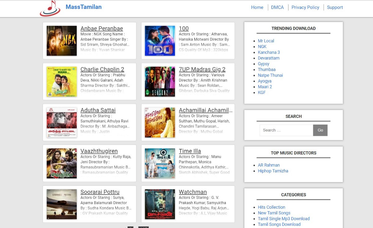 90s To 2000s Tamil Movie Mp3 Songs Free To Available For Anyone By Mass Tamilan Medium