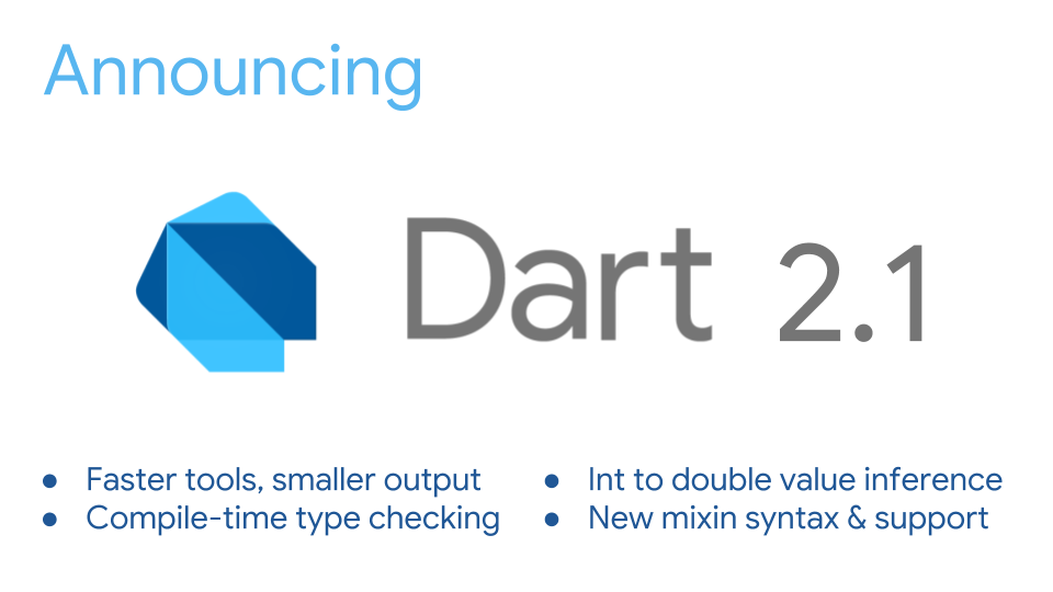 Announcing Dart 2 1: Improved performance & usability