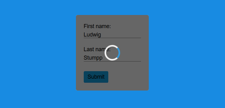 Part 2: How to build a web form with a loading animation using HTML5