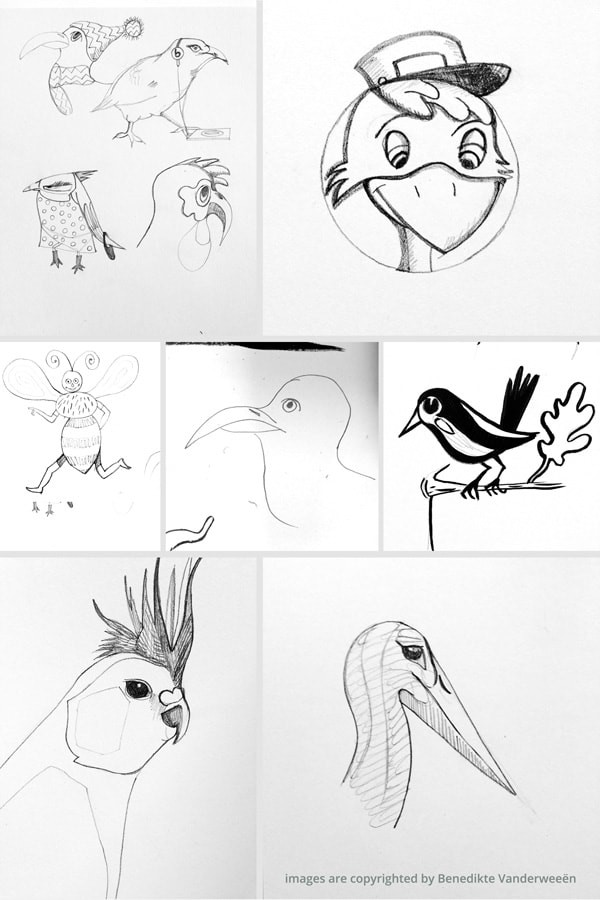 Collect your sketches and pick one sketch to start from.