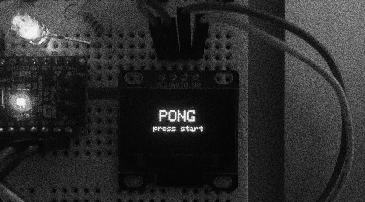 Implementing Pong with Arduino Nano and I2C OLED 128x64