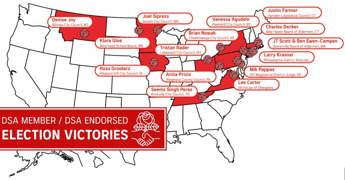 List of Democratic Socialists of America Candidates Who Won