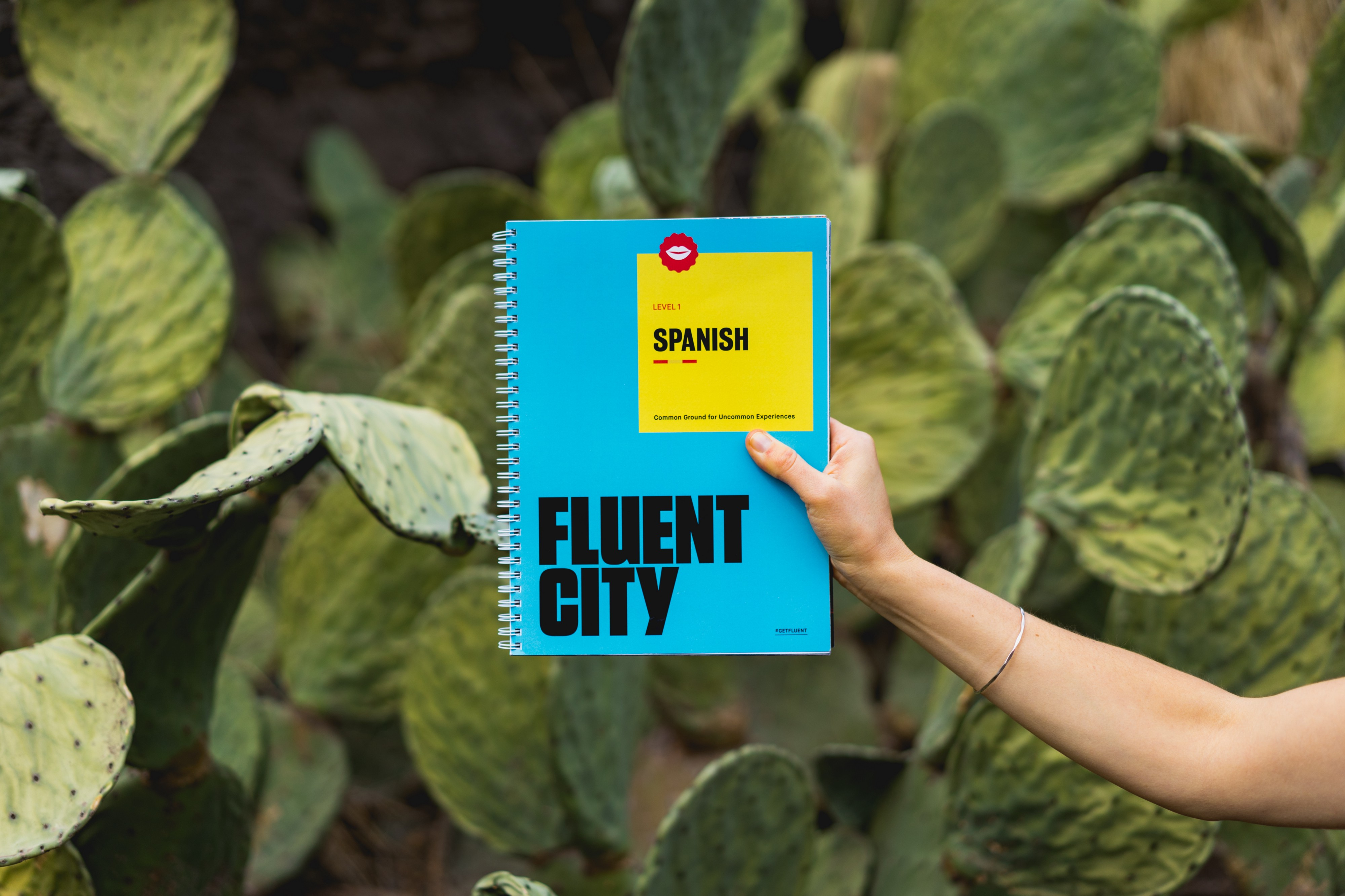 "A book to learn Spanish with the title ""Fluent City"""
