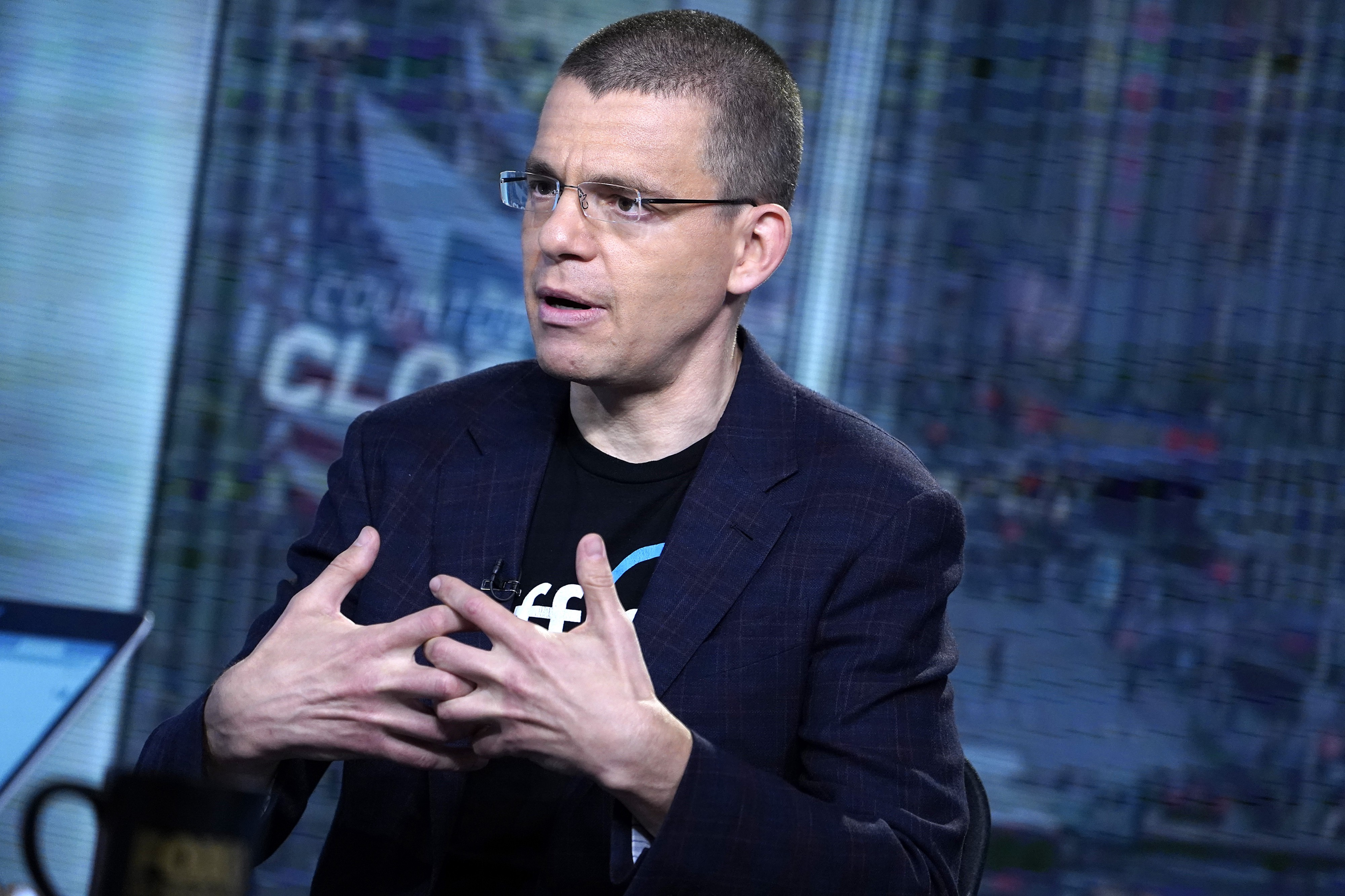 "PayPal co-founder and Affirm CEO Max Levchin makes a gesture while speaking on the show ""Closing the Bell."""