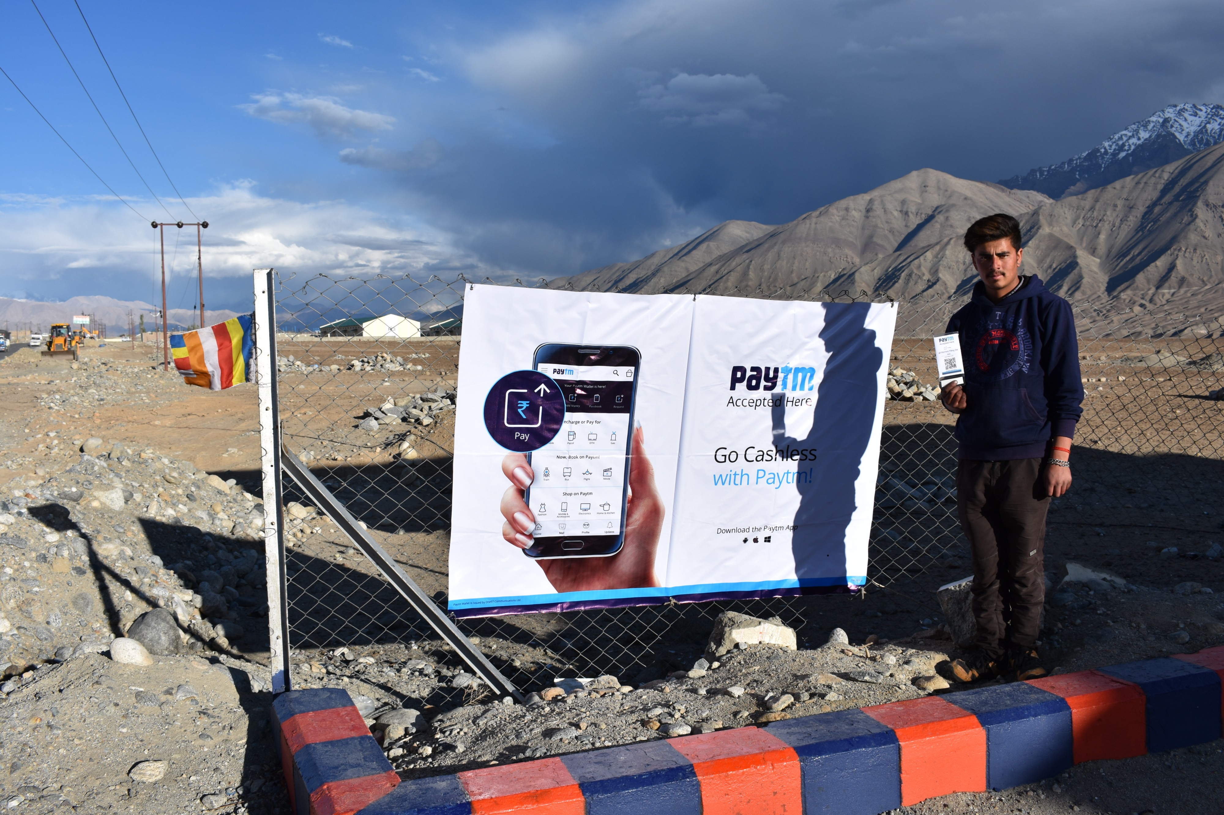 Paytm is now live at the highest Petrol Pump in the world!