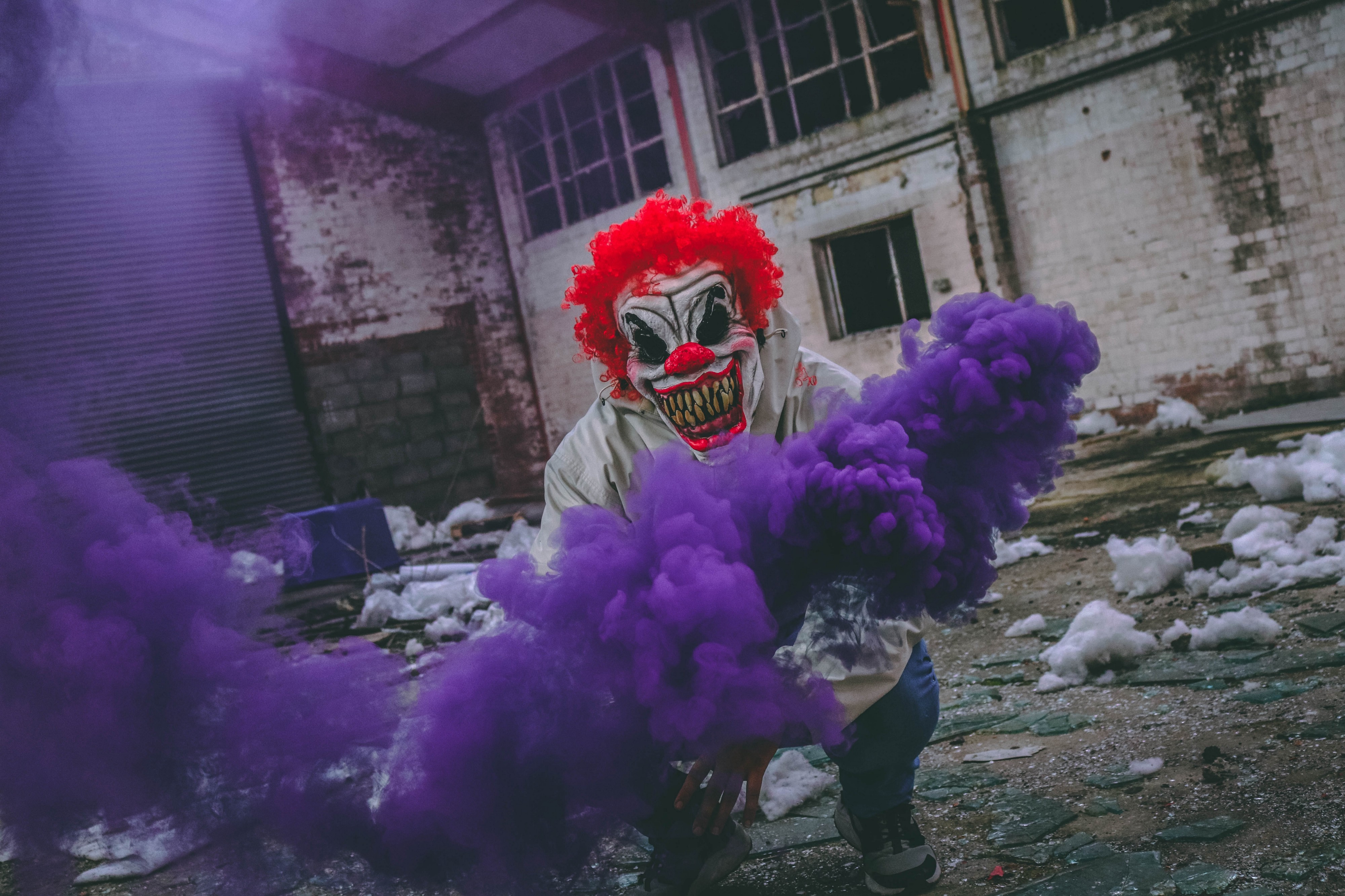 Clown throwing color—powerful practices to overcome fear.