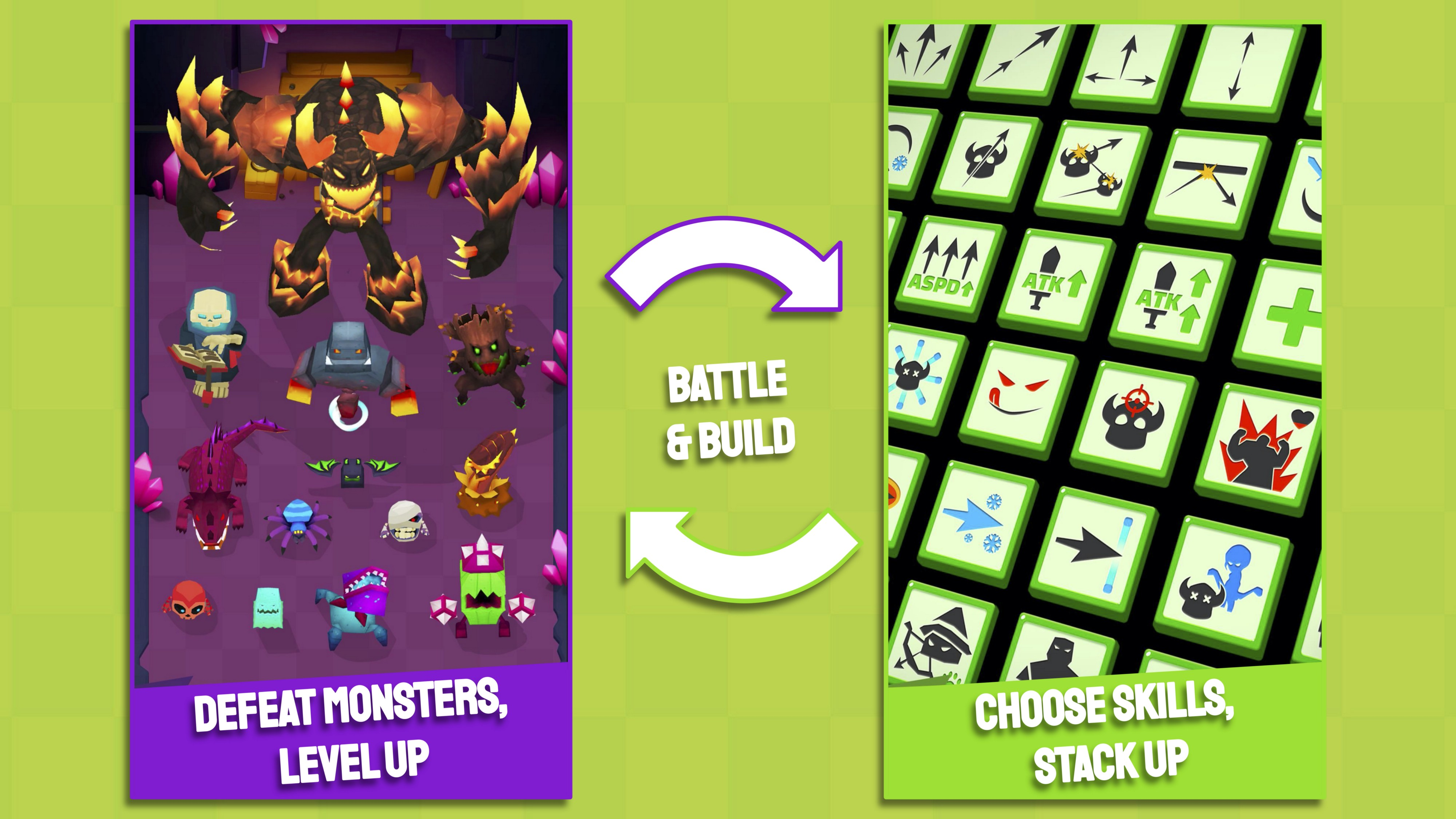 Archero battle and build reward-loop inside battles to engage mobile players