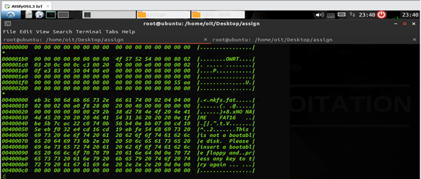 Strings cmd to see strings inside a binary