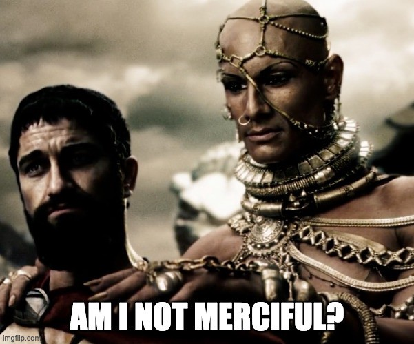 I ask therefore I am Leonidas and Xerxes