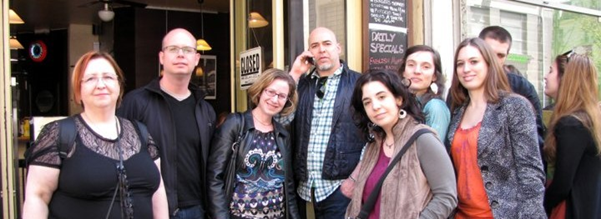 Photo from the weekend after the conference, when a number of speakers and organisers met for breakfast.
