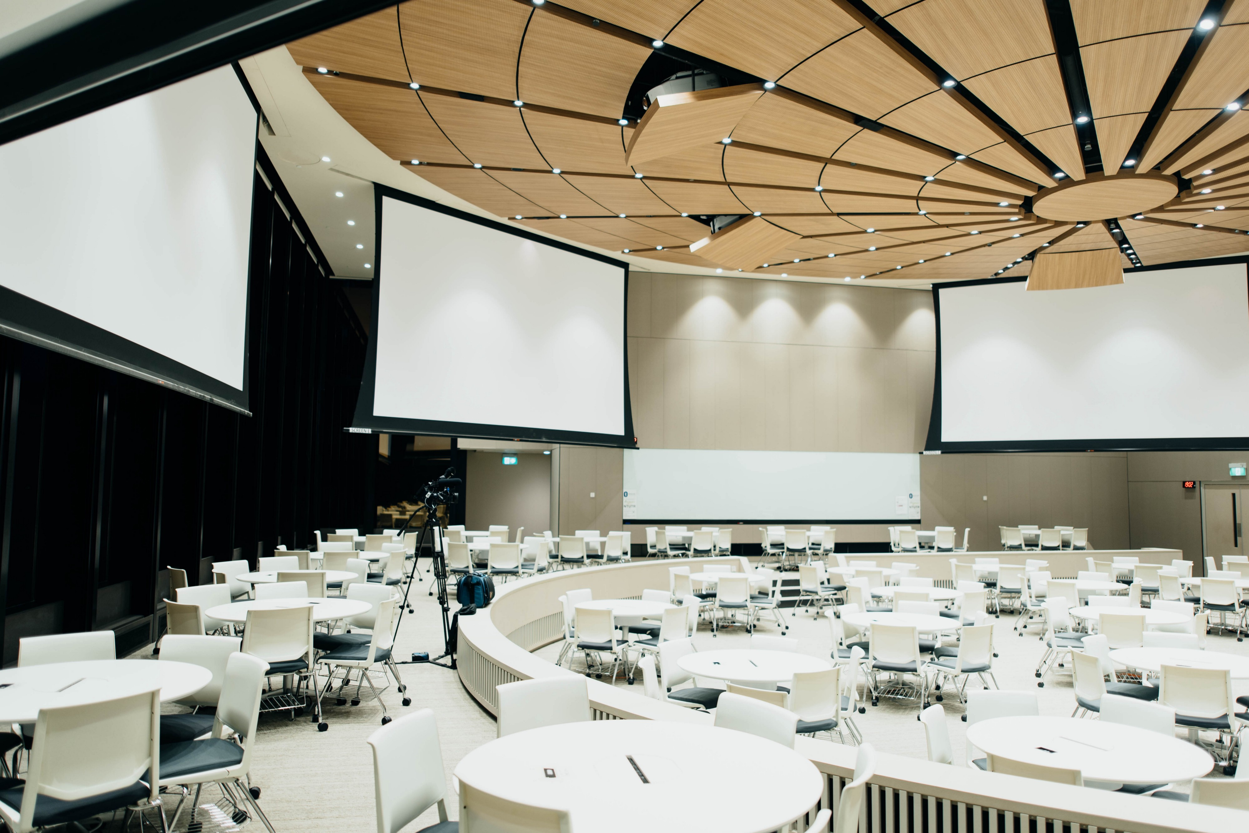 Large empty conference room