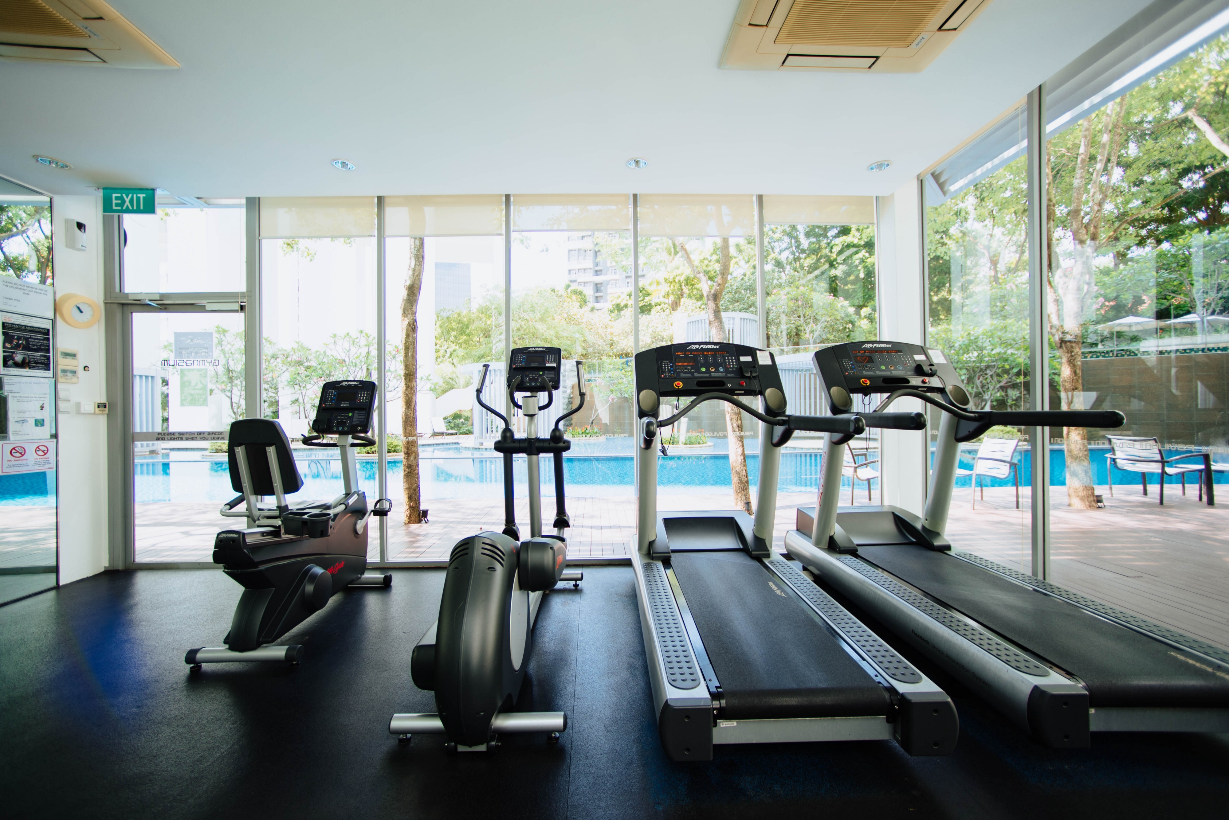 Treadmill and workout equipment