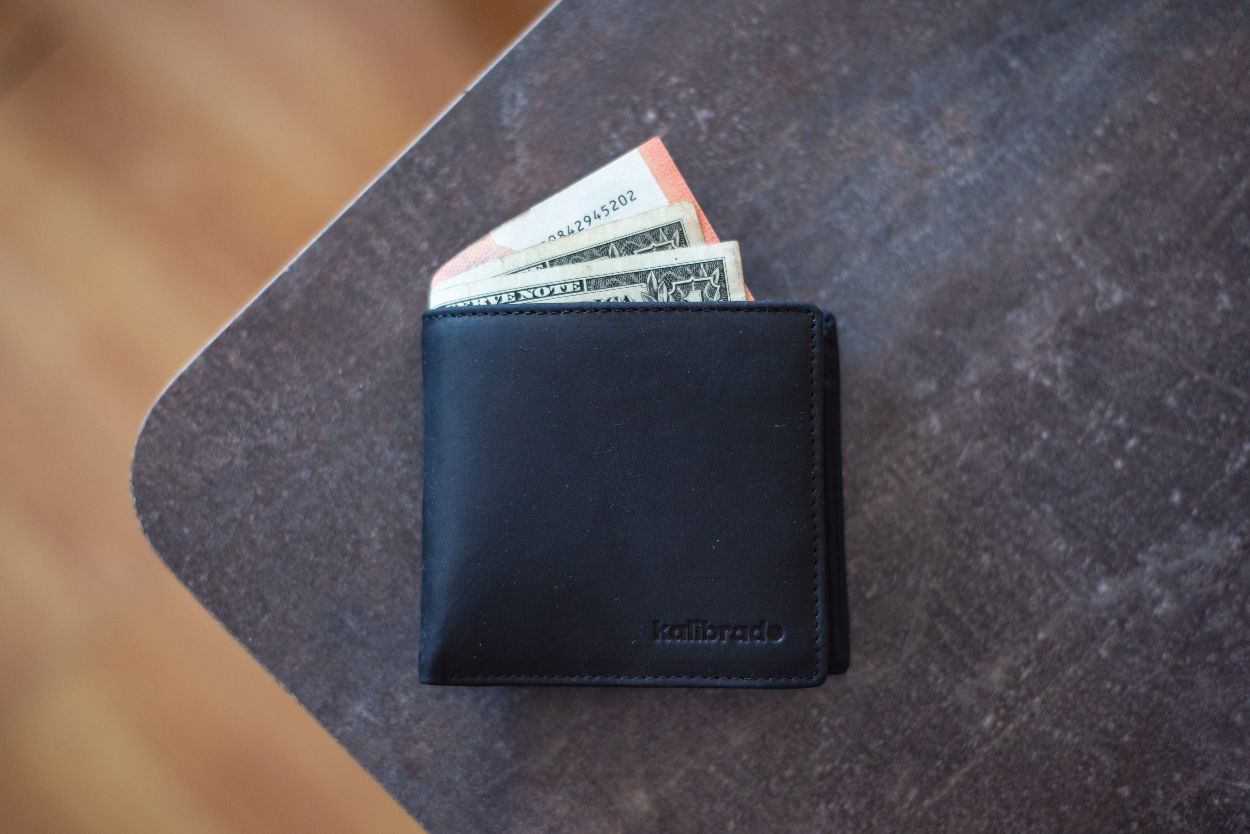 The wallet of one of our three imaginary people