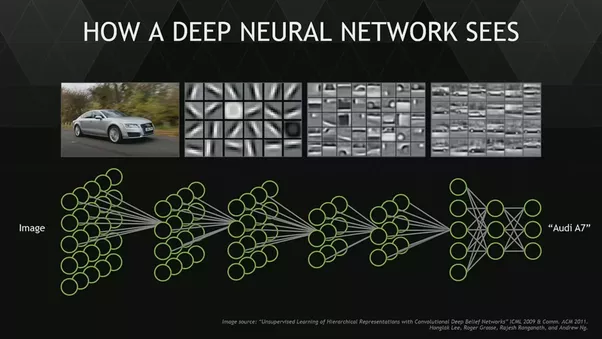 Graphic demonstrating how a deep neural network sees.