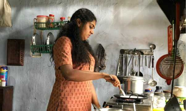A scene from the movie The Great Indian Kitchen