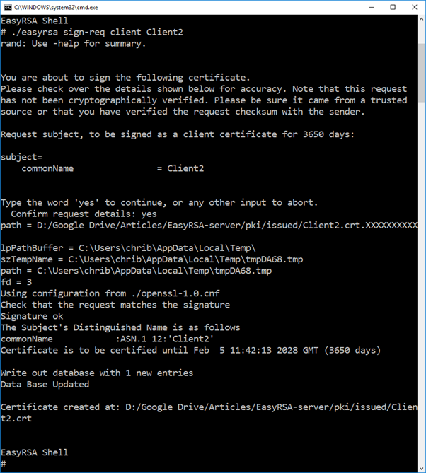 HOWTO Generate password protected OpenVPN client configuration using