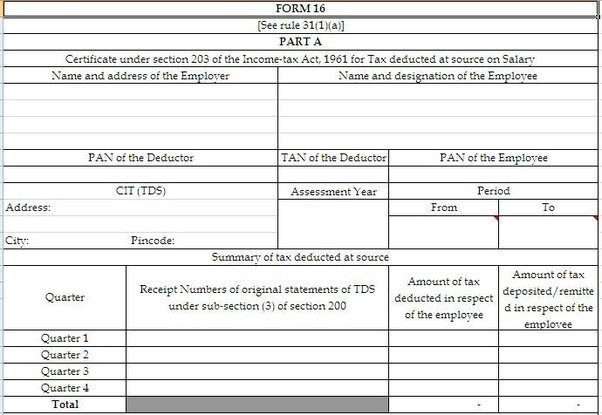 What is Form 16 and why you need it? - All India ITR - Medium
