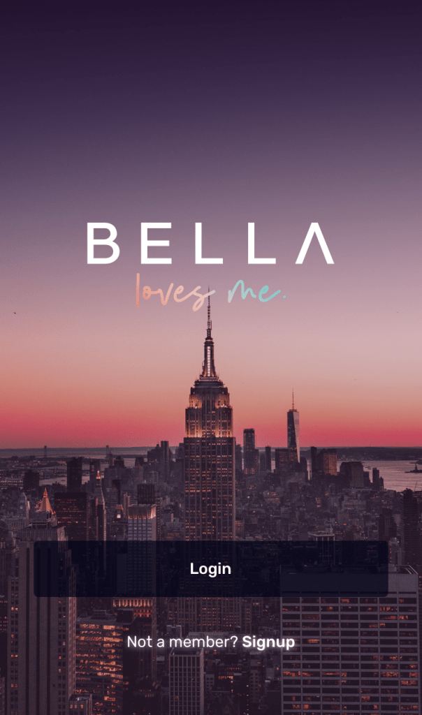Bella Love Me app login