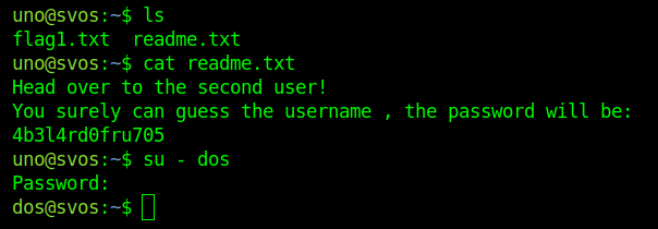 A readme file containing instructions to proceed to second challenge.