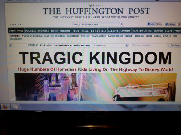 huffpo headline Tragic Kingdom