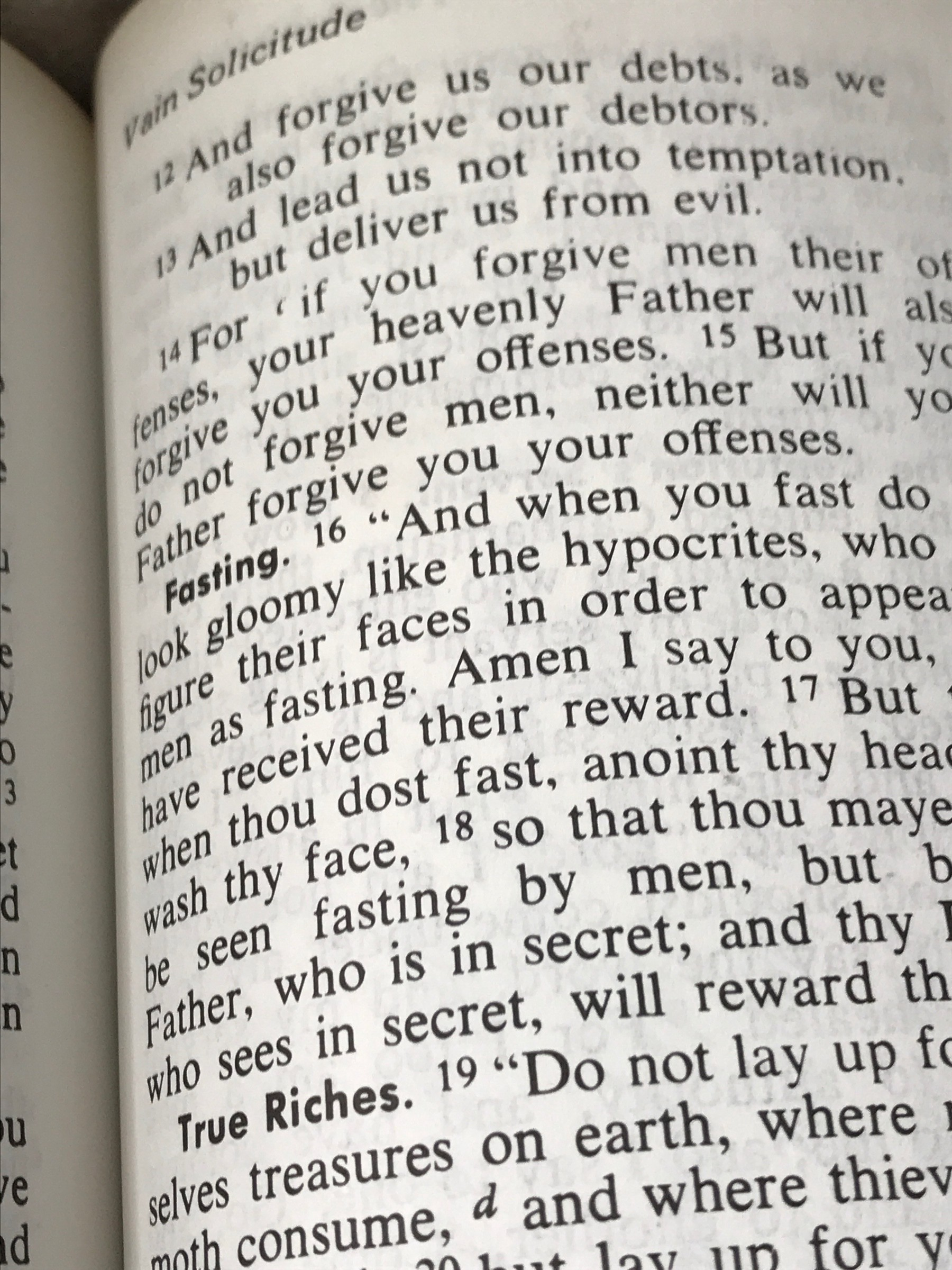 Probably my most favorite Bible verse is in Matthew chapter