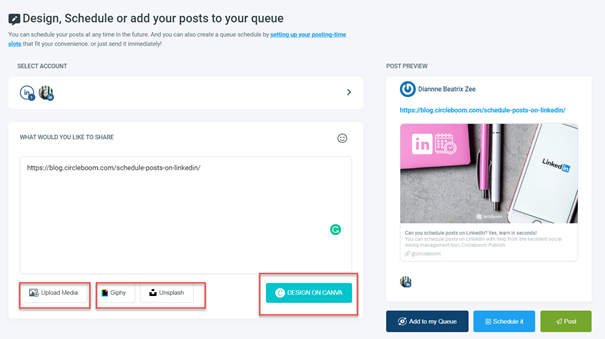 Create, design, plan and automate social media posts with Circleboom.