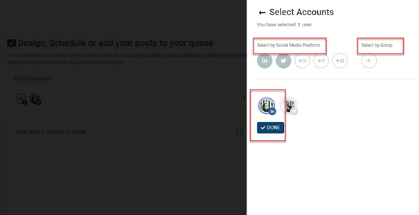 Create account groups for your client profiles or brand pages.