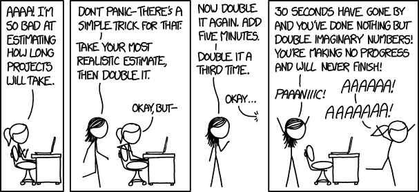 XKCD comic about estimating time when coding