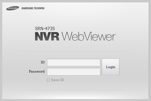 SRN-473s WebViewer sign in page