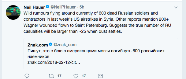 """Russians killed in battle with US in Syria"""": Is this story"""