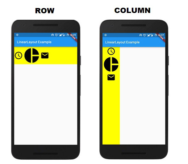 Flutter For Android Developers : How to design LinearLayout