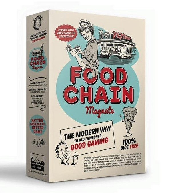 The box of the game Food Chain Magnate