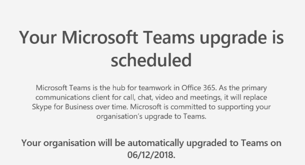 Ready to auto upgrade Skype for Business to Microsoft Teams?
