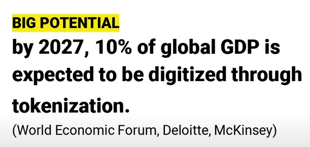 BIG Potential by 2027, 10% of global GDP is expected to be tokens