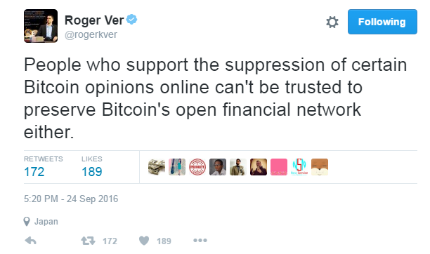 Roger Ver From Bitcoin Jesus To Bitcoin Antichrist By Whalepanda Medium
