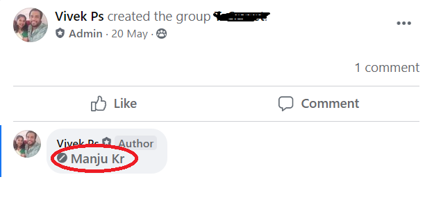 The grayed text indicates that the user is not a member in that group