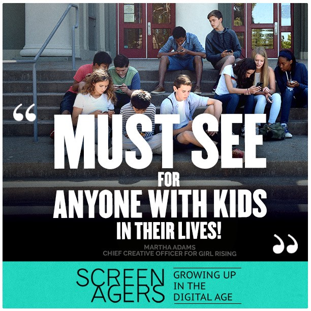 """Screenagers documentary Critic says """" A must-see for anyine with lid sin their lives"""""""