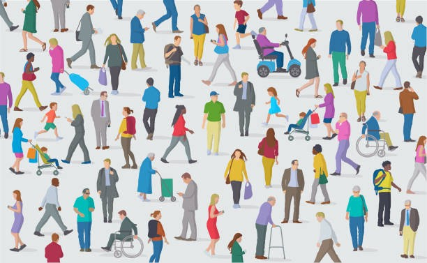 Illustration of a diverse group of people with and without disabilities