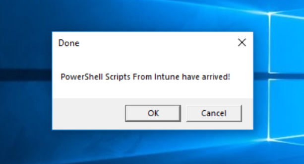 PowerShell Scripts now available via Intune - Nathan Blasac
