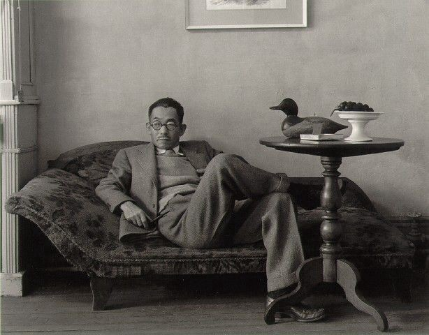 (Photographed by Arnold Newman.)asuo Kuniyoshi was skilled in printmaking, photography and painting.