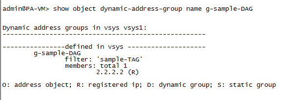 Register an IP address for a Dynamic Address Group on