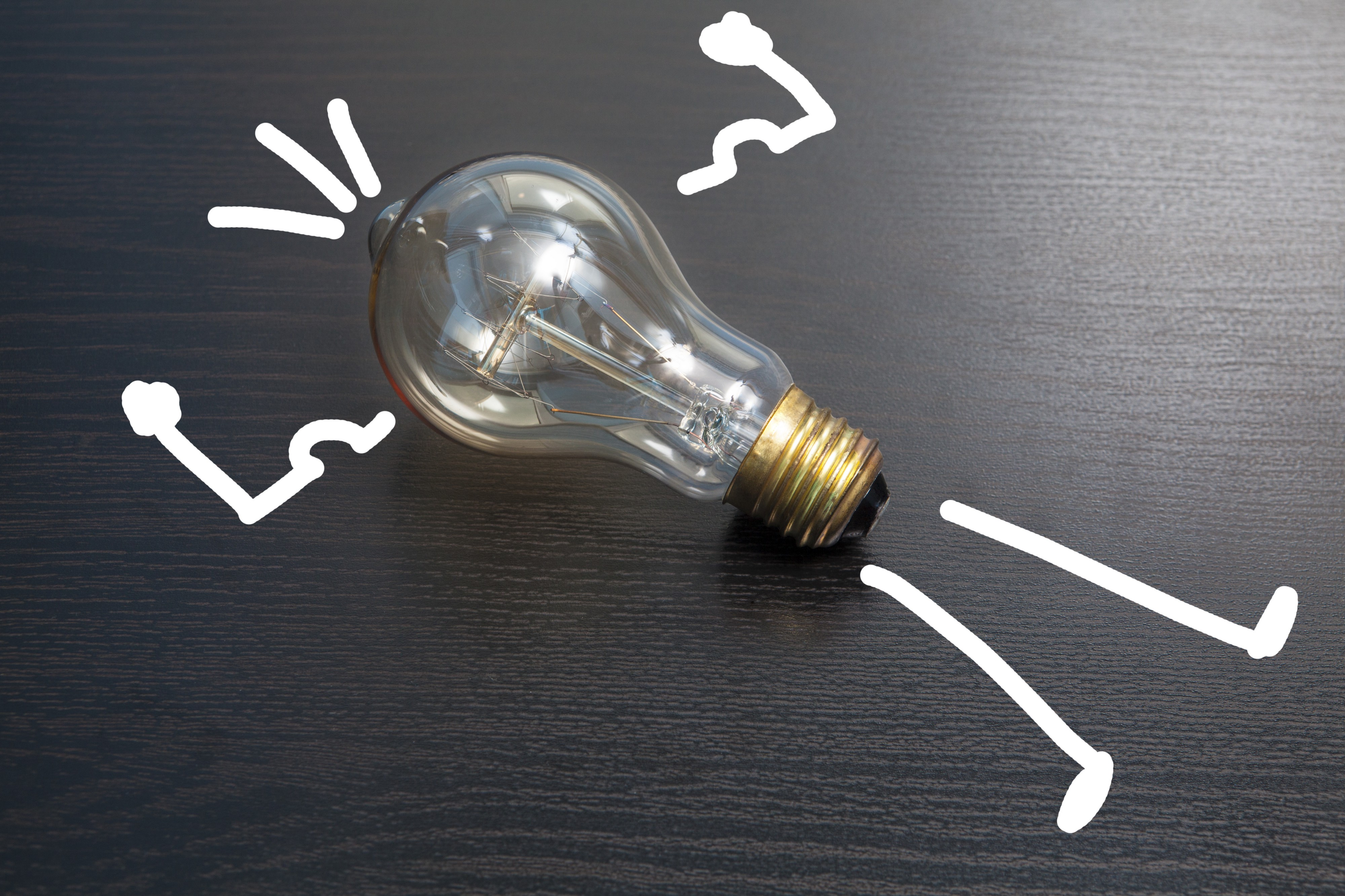 Light bulb to illistrate ideas for flash fiction