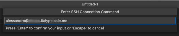 Adding SSH connection
