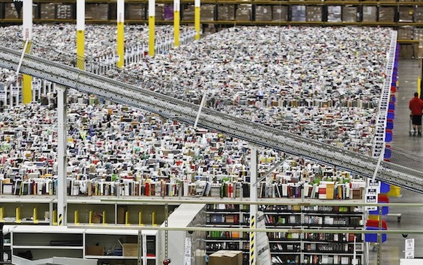 One of Amazon's hundreds of fulfilment centers