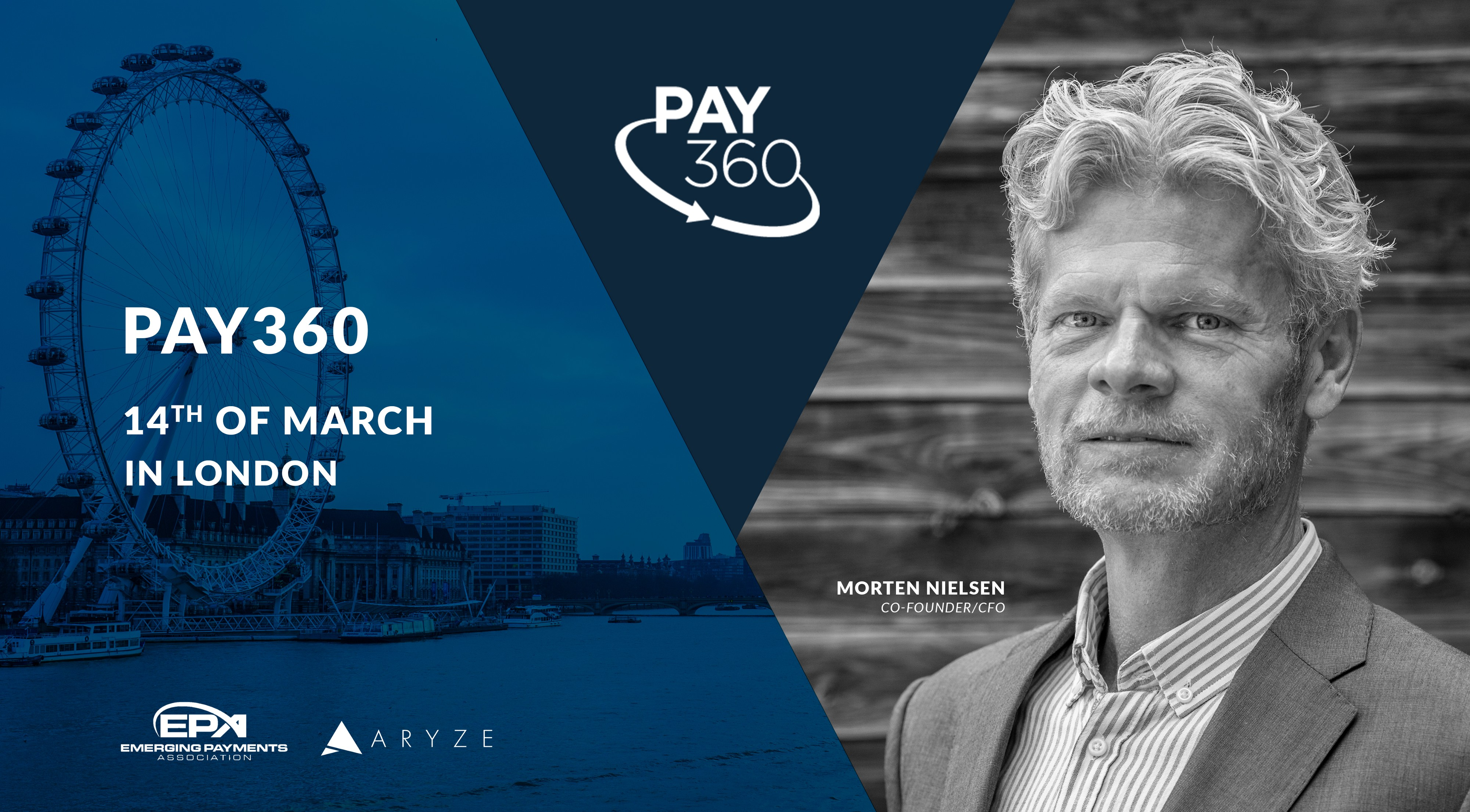 PAY360 conference in London to feature Morten Nielsen of ARYZE