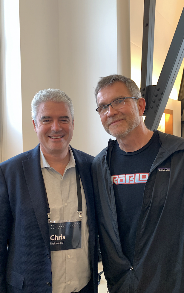 Me and Roblox CEO Dave Baszucki in 2019.
